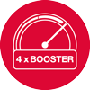 4 x Booster